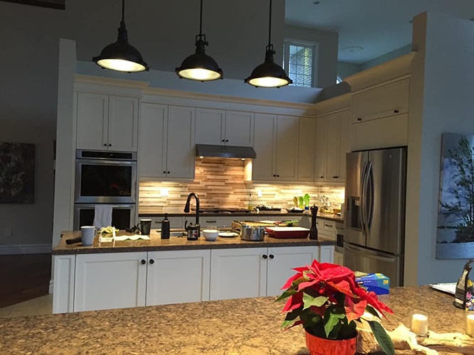 Contemporary Kitchen Cabinets with lighting by Zsibi Toronto