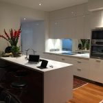 Full White Kitchen Cabinets with Pot lights by Zsibi