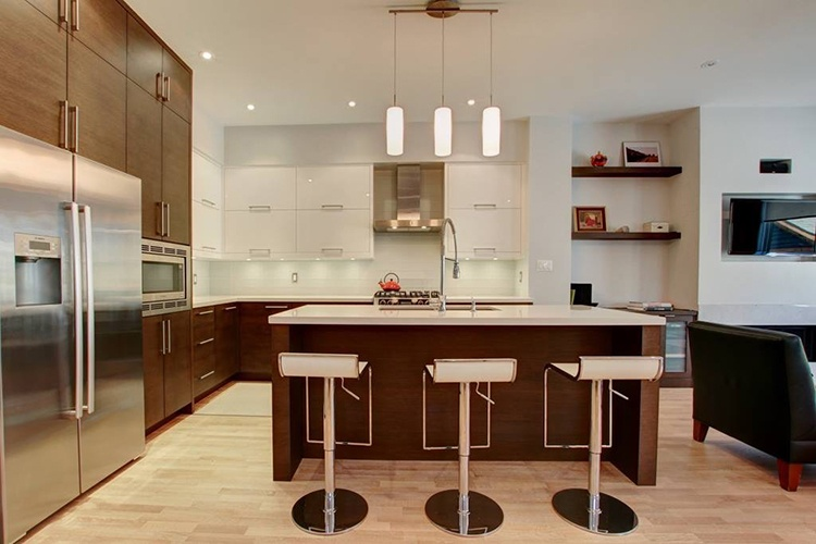 White with Ash bottom Kitchen Cabinet by Zsibi