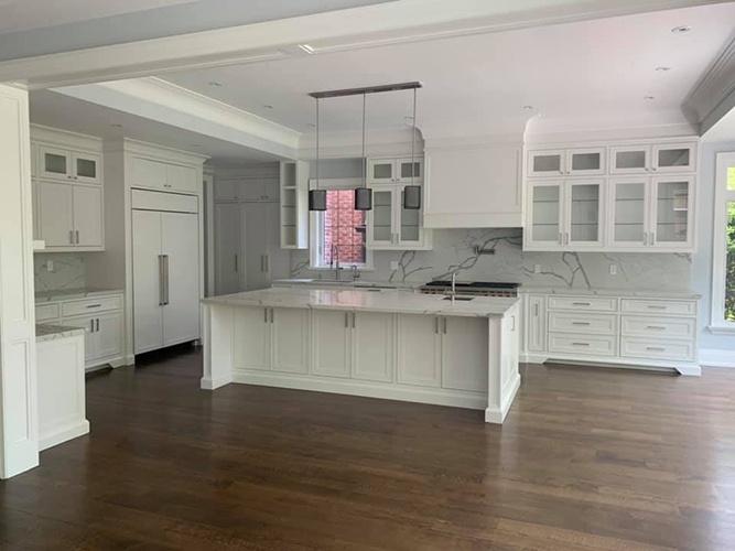 White Large Kitchen Cabinet by Zsibi